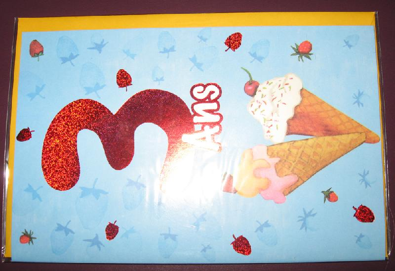 Carte d'anniversaire neuve pour enfant de 3 ans, envoi possible contre