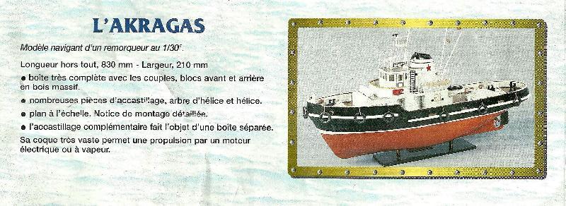 """Photo Maquette de bateau """"L'Akragas"""" modèle navigant d'u"""
