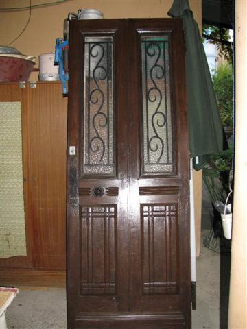 Photo porte d 39 entr e en bois massif tr s bon tat 2 p - Porte entree bois massif ...