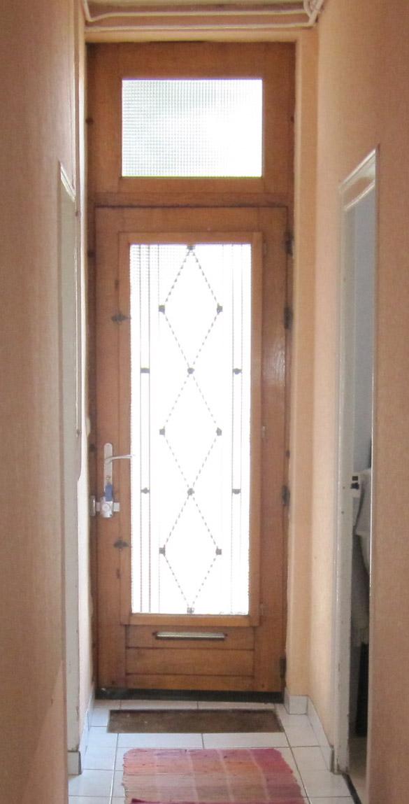 Photo porte d 39 entr e vitr e en bois d mentions porte sa - Porte d entree bois vitree ...