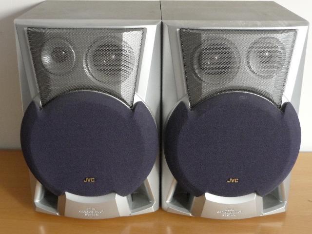 photo enceintes jvc 2 enceintes jvc sp mxj77 120 watts. Black Bedroom Furniture Sets. Home Design Ideas