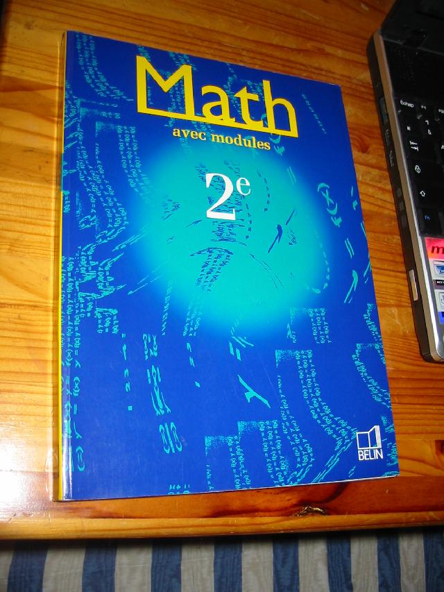 Manuel Math�matiques 2nde �ditions Belin 1998 exce