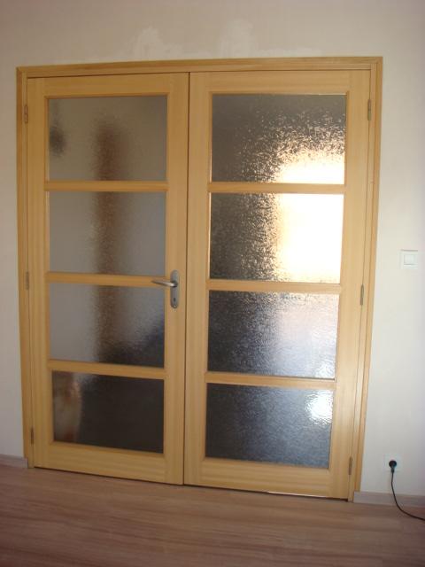 photo porte vitr e deux naturel neuve avec. Black Bedroom Furniture Sets. Home Design Ideas