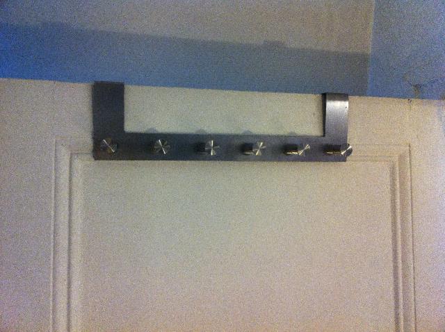 Photo Patère Pour Porte Acier Inoxydable IKEA A Veni - Patère pour porte