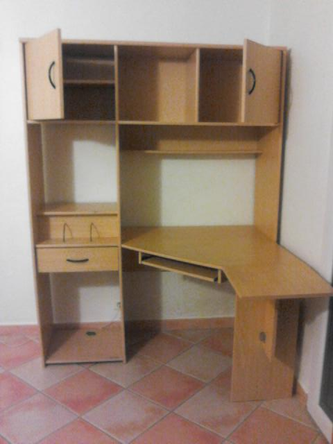 Photo meuble bureau for Grand bureau en bois