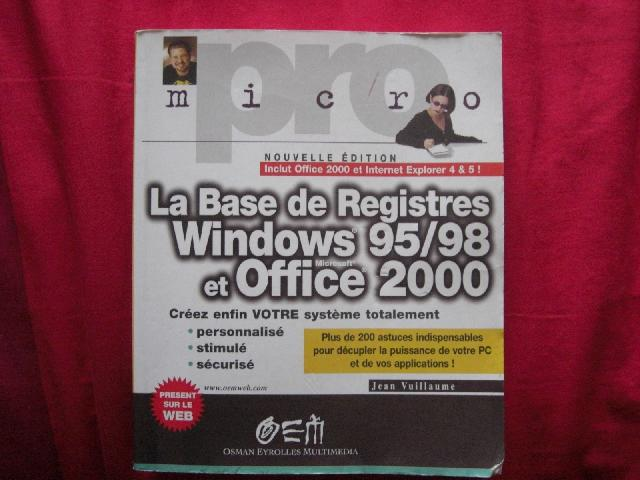 Livre base de registre windows