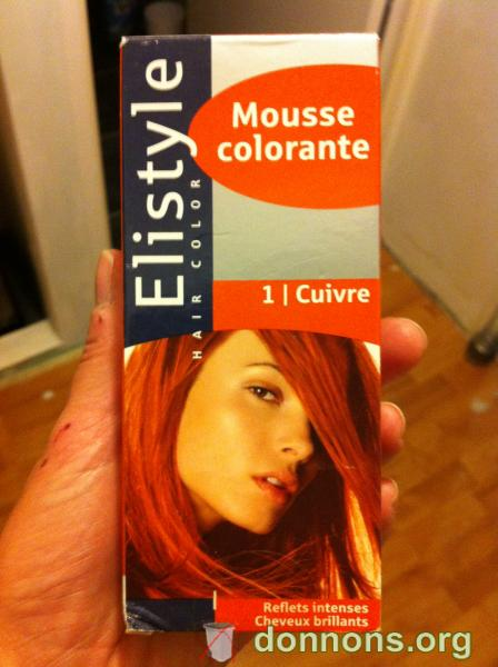 mousse colorante cuivr�e