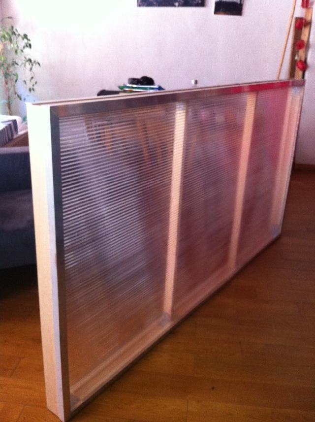photo cloison bois plexiglass sur un face et alu pouv. Black Bedroom Furniture Sets. Home Design Ideas