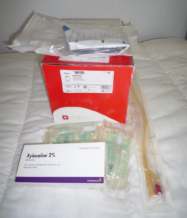 Photo matériel pour pathologie urinaire (sondage vésical