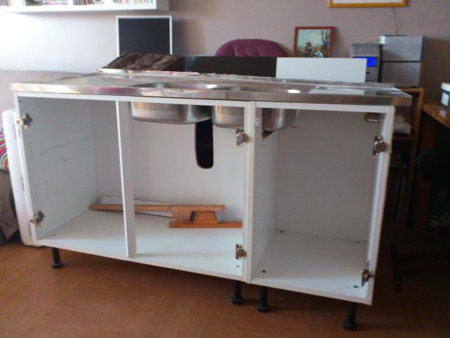 Photo meuble evier - Installer evier cuisine ...