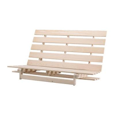Photo futon canape for Cadre en bois ikea sofa