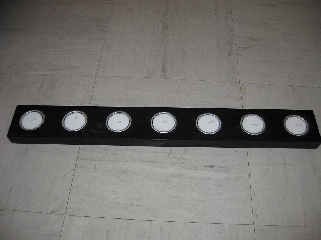 photo bougeoir ikea noir 55cm de long et 7cm de large. Black Bedroom Furniture Sets. Home Design Ideas