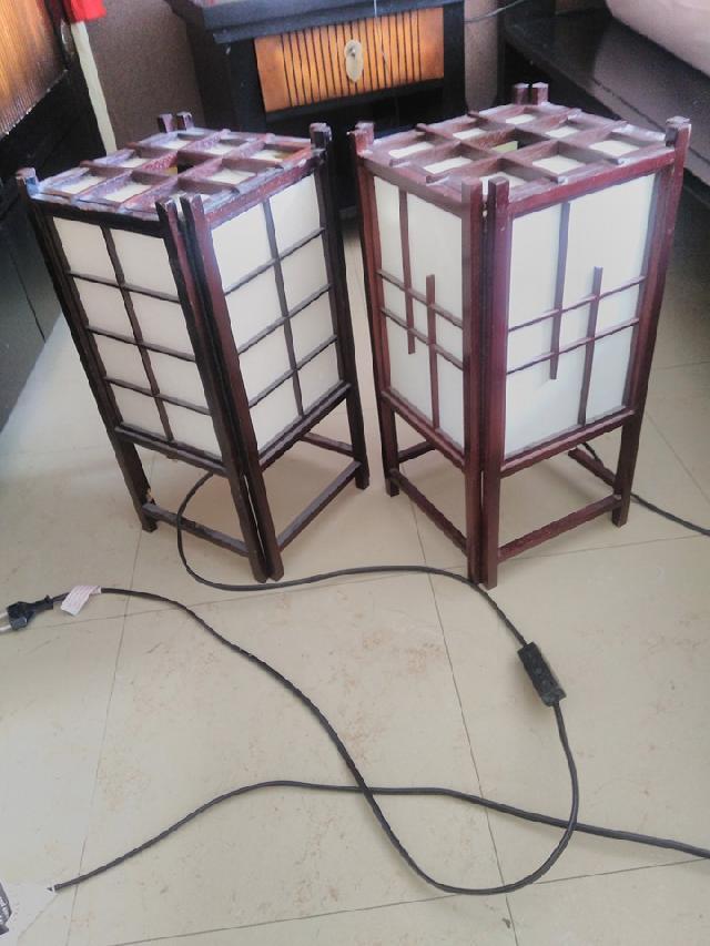 Lampes. Donne 2 Lampes De Chevet Style Asiatique