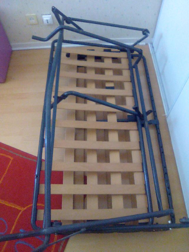 sommier pliable donner muret. Black Bedroom Furniture Sets. Home Design Ideas